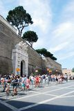 Entrance to the Vatican museum on May 30, 2014 Royalty Free Stock Photos