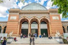 Entrance to Velazquez Palace in Retiro park of Madrid Stock Photo