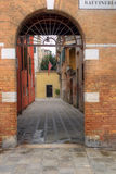 Entrance to a Venetian House. Main entrance to a Venetian House in Venice, Italy Stock Images