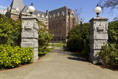 Entrance to Victoria Canada Capital Royalty Free Stock Image