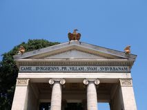 Entrance to Villa Borghese Gardens Royalty Free Stock Image