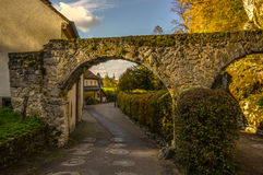 Entrance to the village Arlesheim (Switzerland) in autumn Royalty Free Stock Images