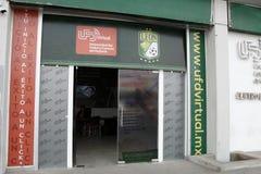 Entrance to virtual school of Futbol Club Leon, Leon, Guanajuato. Horizontal Format. royalty free stock photo
