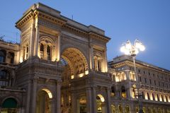 Entrance to the Vittorio Emanuele Shopping Gallery Stock Photo