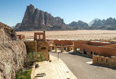 Entrance to Wadi Rum desert Stock Photography