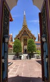 Entrance to Wat Ratchabophit Royalty Free Stock Image