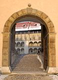 Entrance to Wawel palace Stock Image