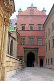 Entrance to Wawel palace royalty free stock photography