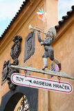 Entrance to the well-known Prague Museum toys Royalty Free Stock Image