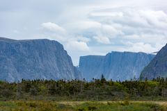 Entrance to Western Brook Pond Gros Morne National Park, Newfoundland. Located just outside of Rocky Harbour, Newfoundland, Gros Morne National Park provides Royalty Free Stock Photo