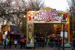 Entrance To Winter Wonderland Stock Image