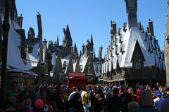 Entrance to Wizarding World. ORLANDO - OCT 25: The entrance to Harry Potter's Wizarding World at Universal Islands of Adventure in Orlando. Taken October 25 Stock Photos