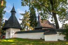 Entrance to Wooden Church All Saints in Tvrdosin Royalty Free Stock Photos