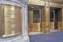 Entrance to the Wrigley Building, Chicago, Illinois Royalty Free Stock Image