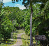 Entrance to the Xunantunich Archaeological Reserve in Belize Stock Photo