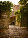 Entrance to a yard. In Cambridge Stock Image