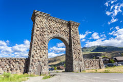 Entrance to Yellowstone National Park. Montana, USA Royalty Free Stock Images