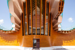 Entrance to the Ysios bodega, LaGuardia, La Rioja, Spain Stock Photo