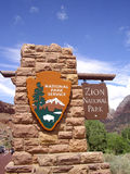 Entrance to Zion National Park Royalty Free Stock Image