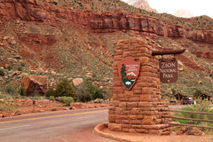 Entrance to Zion Stock Image