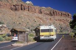 Entrance to Zion National Park, Utah Stock Image