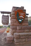 Entrance to Zion National Park, Utah, USA Royalty Free Stock Photos