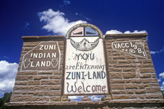 Entrance to Zuni Indian Reservation Royalty Free Stock Images