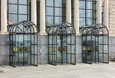 Entrance to the Zurich Opera House in Zurich, Switzerland Royalty Free Stock Photography
