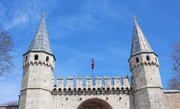 Entrance in Topkapi Palace, Istanbul Stock Photography