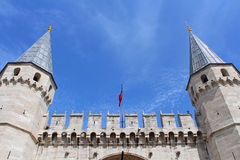 Entrance in Topkapi Palace, Istanbul, Turkey Royalty Free Stock Photography
