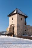 Entrance tower of Bobolice Castle Royalty Free Stock Image