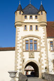Entrance tower of the Goetzenburg castle Stock Photography