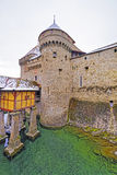 Entrance tower to Chillon Castle on Lake Geneva in Switzerland Stock Images