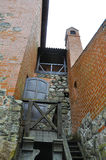 Entrance in the Tower of Trakai Castle from Island Trakai in Lithuania Stock Photo