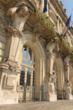 Entrance. Town Hall. Tours. France Royalty Free Stock Photos
