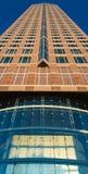 Entrance of the Trade Fair Tower in Frankfurt, Germa Stock Photos