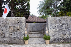 Entrance of traditional house in Okinawa Stock Photography