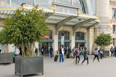 Entrance. Train Station. Tours. France. Entrance to the train station at Place du Général-Leclerc, Tours. France Stock Images