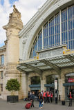 Entrance. Train Station. Tours. France Stock Photos
