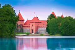 Entrance of Trakai castle Stock Image