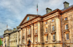 Entrance of Trinity College in Dublin Stock Images