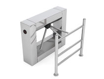 Entrance Tripod Turnstile. 3d Rendering Royalty Free Stock Photos