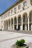 University of economics in Svishtov, Bulgaria. Entrance of Tsenov Academy of Economics in Svishtov, Bulgaria Stock Image