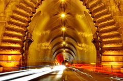 Entrance of a tunnel Stock Photography