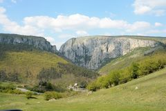 The entrance of the Turda gorge in Transylvania. Romania royalty free stock images