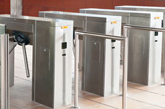 Entrance turnstiles Royalty Free Stock Photography