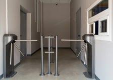 Entrance turnstiles Stock Photo