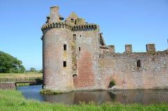 Entrance Turrets at Caerlaverock Castle Royalty Free Stock Image