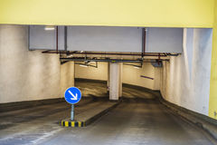 Entrance of an underground parking for cars Stock Photo