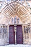 Entrance of Unesco Saint Marys Cathedral, Erfurt, Germany  Stock Photo